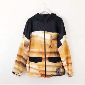 Neff Pancake Soft Shell Snowboard Jacket RARE